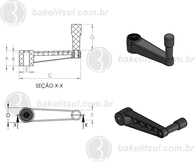 Manivela retrátil, Manivelas con empuñadura abatible, Crank handles with fold-away handle, MT+IR