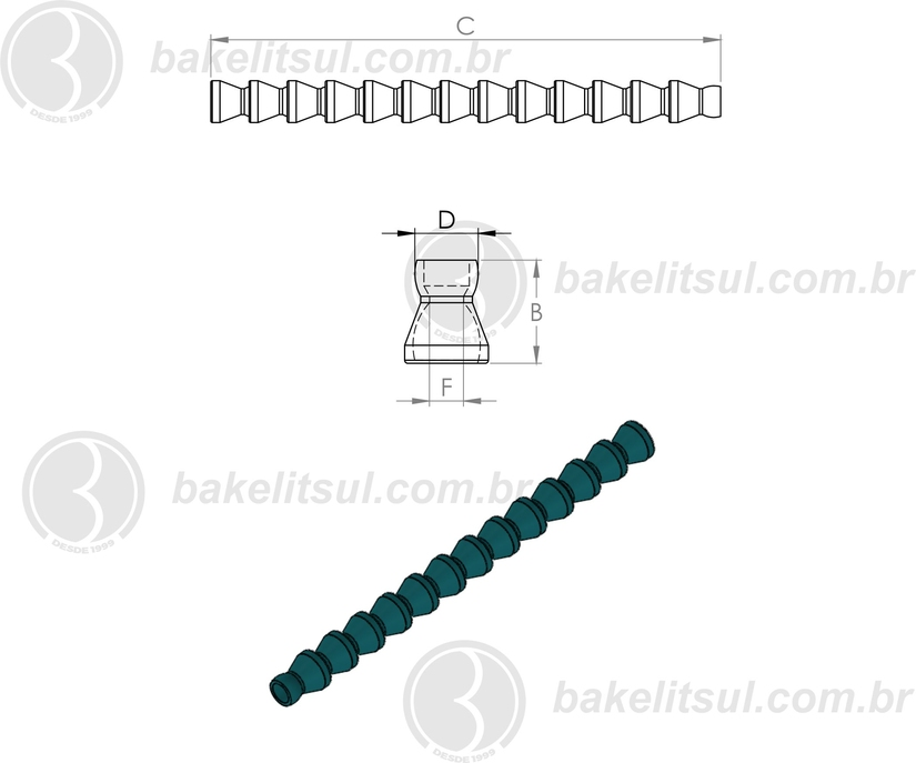 tubo flexível plastico para refrigeração, Adjustable Coolant Hose, manguera de refrigerante regulable