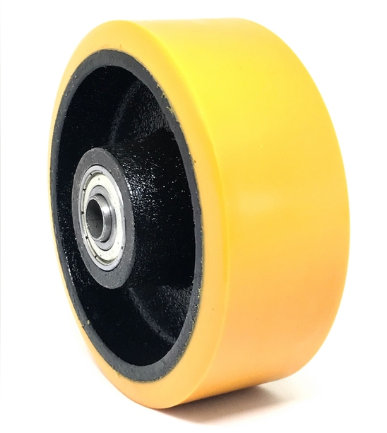 IRON WHEELS WITH POLYURETHANE